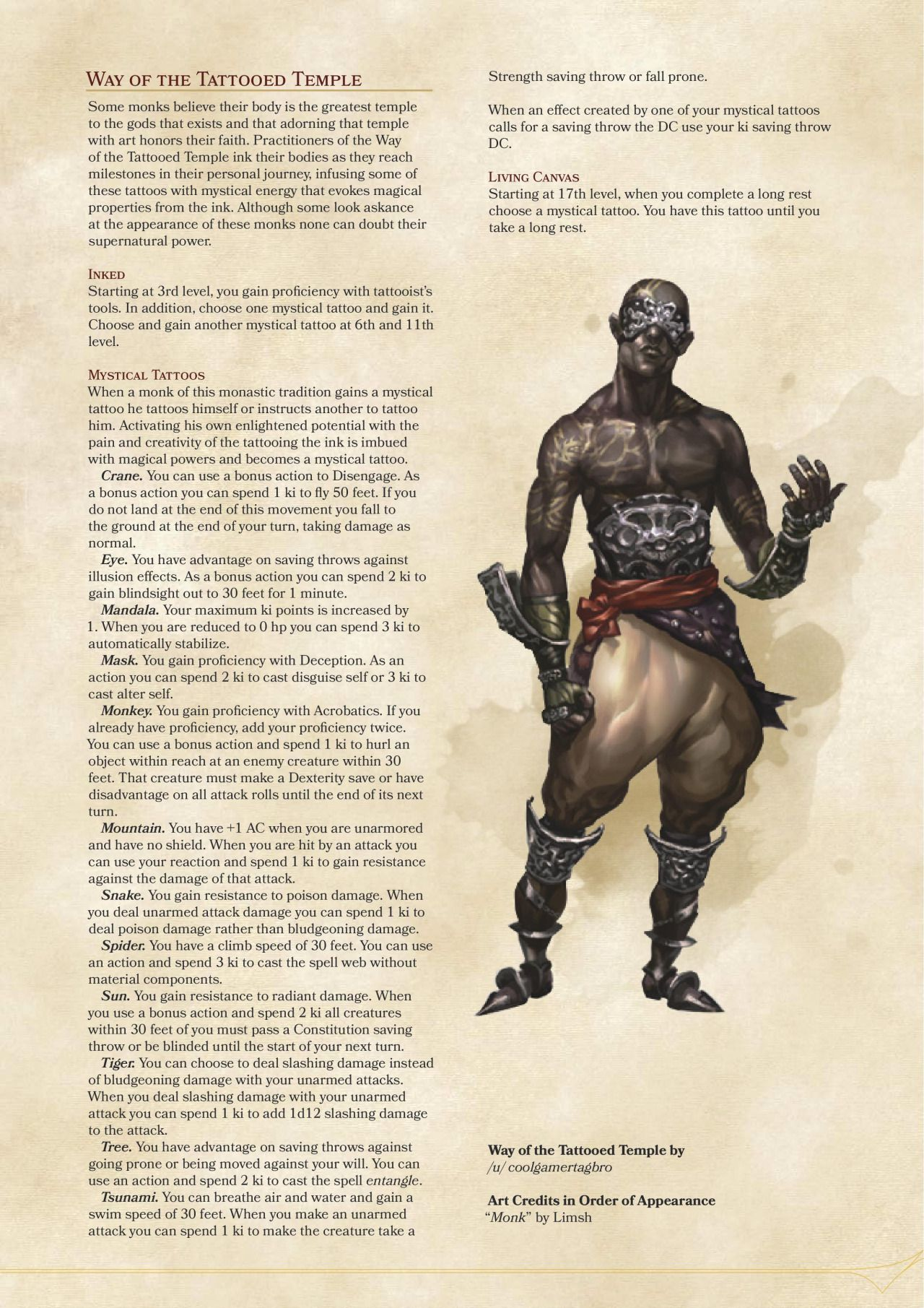 Prophecy Domain Cleric and Way of the Tattooed Temple Monk | DM