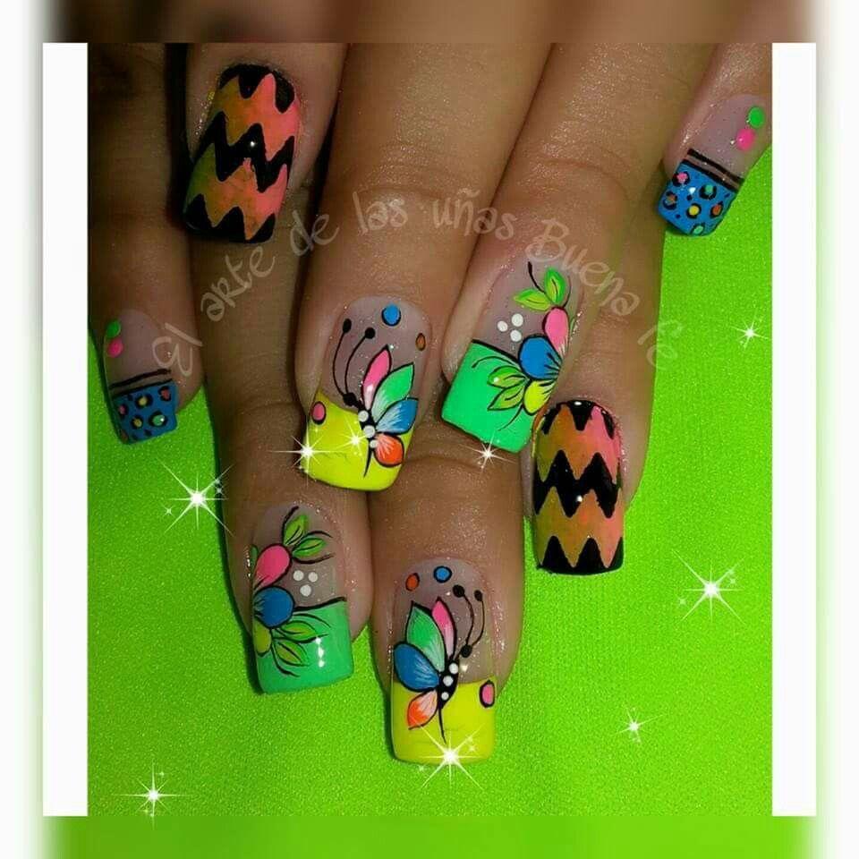 Pin de Kelly Parra en uñas | Pinterest | Diseños de uñas, Mi pasión ...