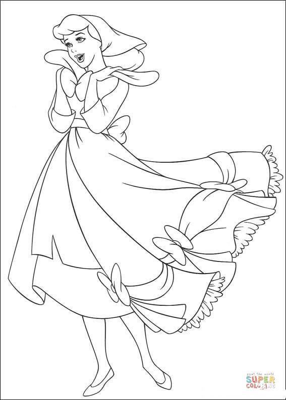 Cinderella Sings A Song Super Coloring Cinderella Coloring Pages Princess Coloring Pages Cartoon Coloring Pages