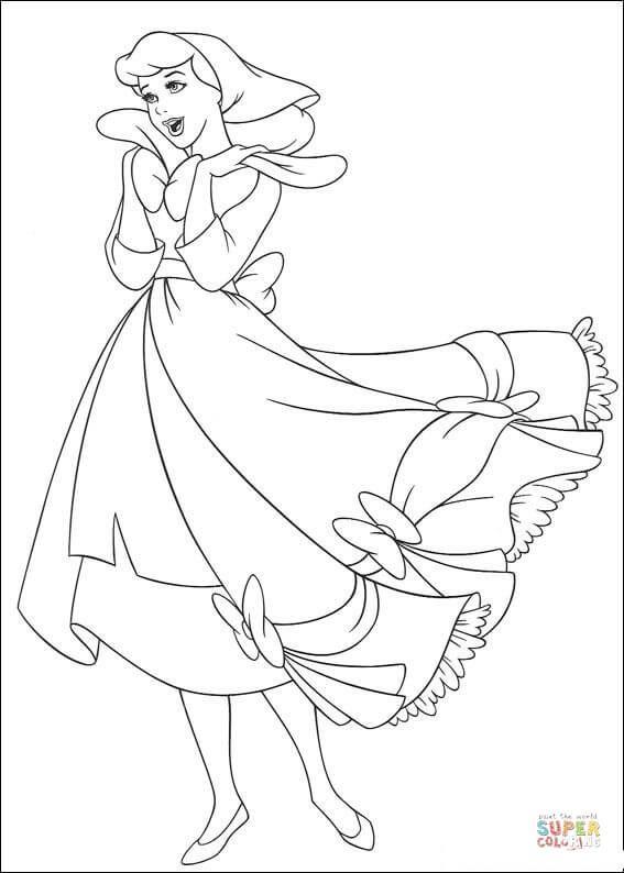 Cinderella Sings A Song Super Coloring Cinderella Coloring Pages Princess Coloring Pages Disney Princess Coloring Pages