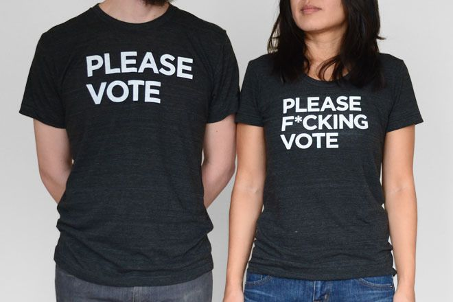 Please Vote Shirts & Totes