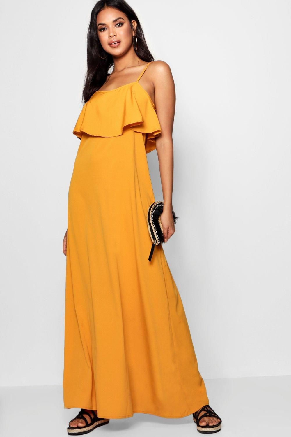 308852238c6 Click here to find out about the Stephie Cold Shoulder Ruffle Maxi Dress  from Boohoo