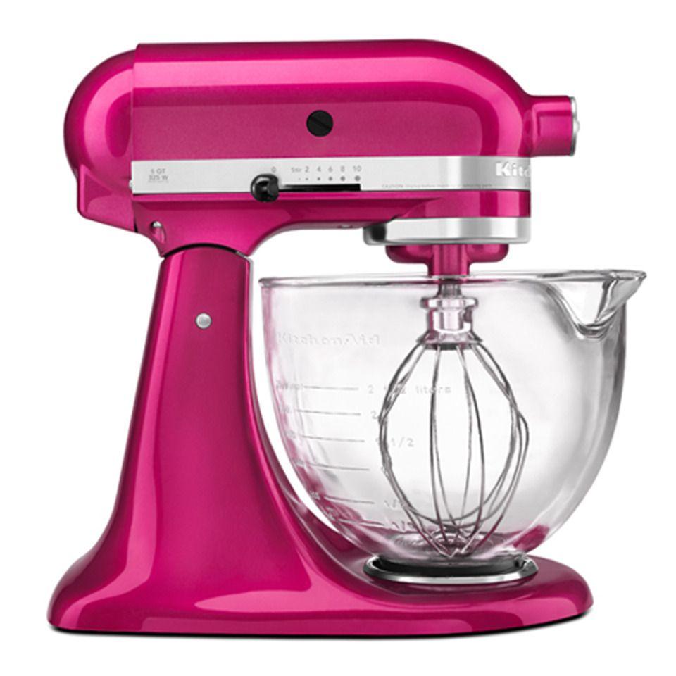 Küchenschränke in der garage kitchenaid architect stand mixer with glass bowl in raspberry ice
