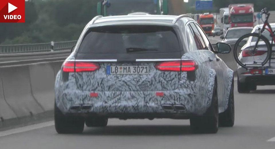 Scooped Mercedes Amg E63 Estate Black Series Filmed Up Close