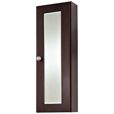 American Imaginations 12 Inch W X 36 Inch H Cherry Wood Reversible Door M Surface Mount Medicine Cabinet Wall Mounted Medicine Cabinet Wood Medicine Cabinets