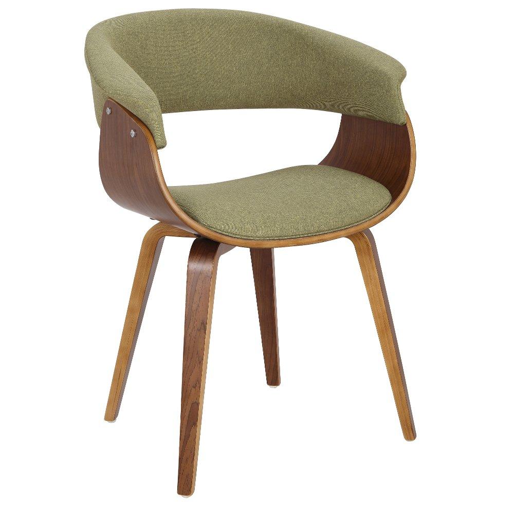Modern Mid Century Green Dining Room Chair Vintage Mod