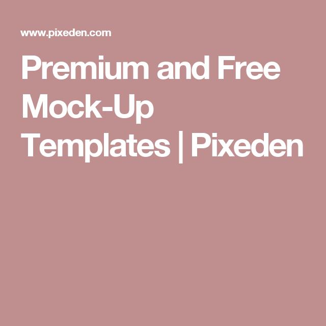 Premium and Free Mock-Up Templates | Pixeden
