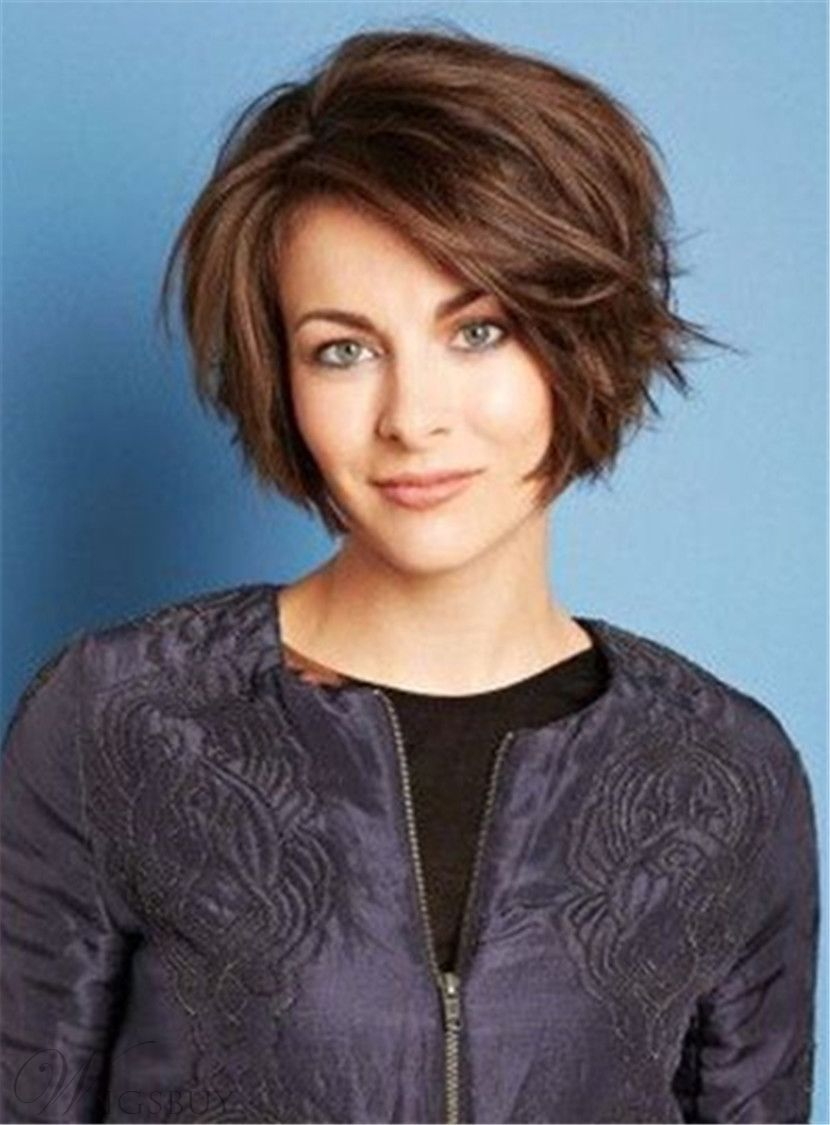 $12.28 - short side parting nature straight synthetic hair