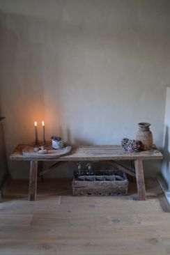 Oud houten bankje no1 landelijk antiek brocante for Decoratie bankje