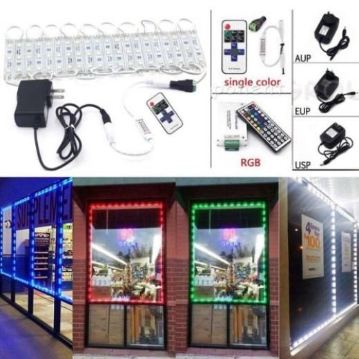 Us 20ft 5050 Smd 3 Led Module Store Front Window Sign Strip Light + ...