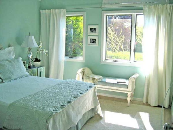 mint green color scheme | wandfarbe-mintgrün-mint-green-color, Schlafzimmer