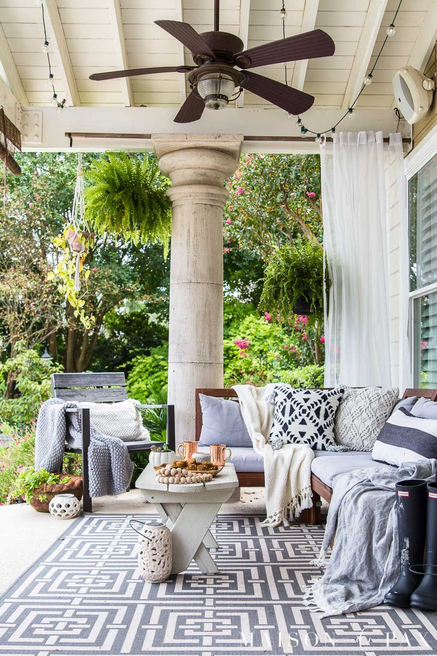 Black And White Fall Porch Decorating Ideas Front Porch Design