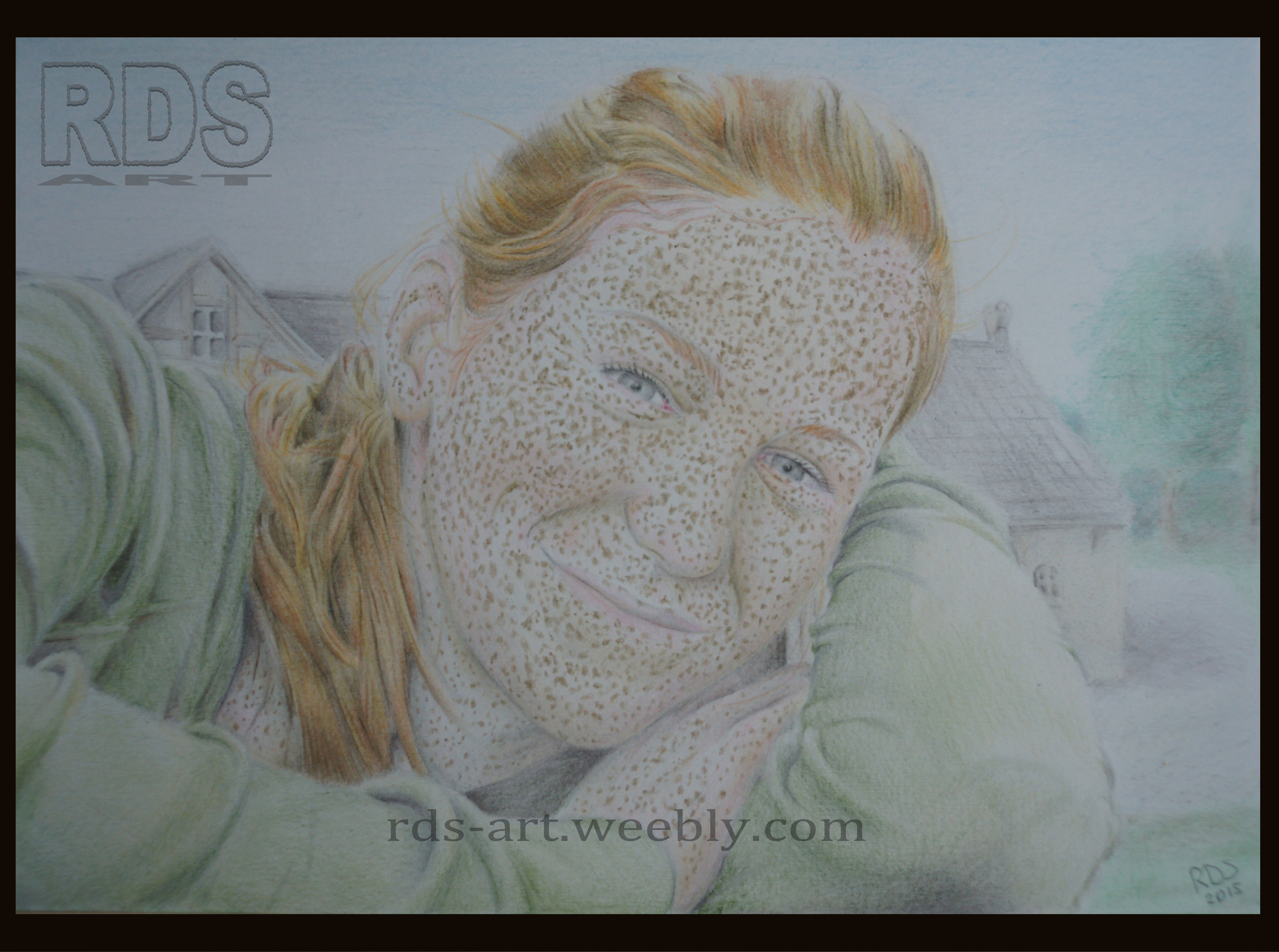 Jamie M. Redhead portrait drawing www.rds-art.weebly.com #redhead #ginger #drawing #pencil #RDS-art