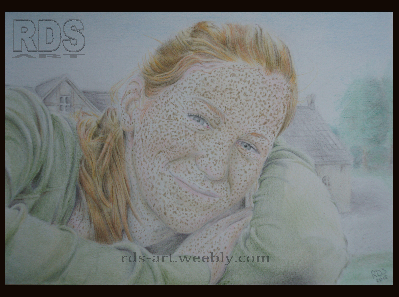 Jamie M. Redhead portrait drawing www.rds-art.weebly.com #redhead #ginger #drawing #pencil #RDS-art