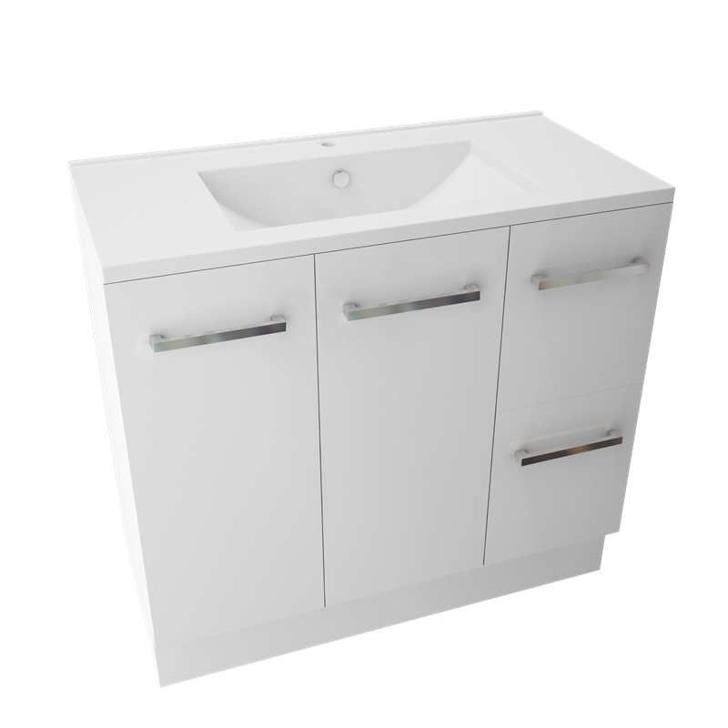 Bathroom Cabinets Bunnings marbletrend 900 x 460mm white kimberley vanity unit 1th i/n