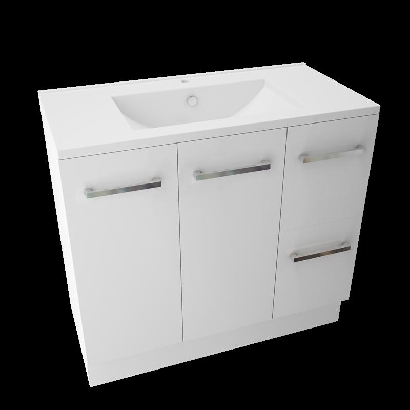 Marbletrend 900 X 460mm White Kimberley Vanity Unit 1th Vanity Units White Vanity Unit Bathroom Design