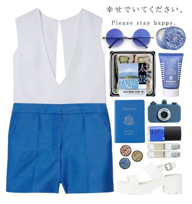 """""""My Oceans"""" by adorechic ❤ liked on Polyvore featuring STELLA McCARTNEY, Retrò, The Body Shop, NARS Cosmetics, Royce Leather, Universal Lighting and Decor, Sisley Paris, Lomography and Le Labo"""