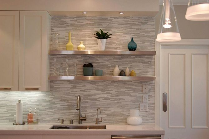 Horizontal tile backsplash Shanna\u0027s kitchen Pinterest Kitchen