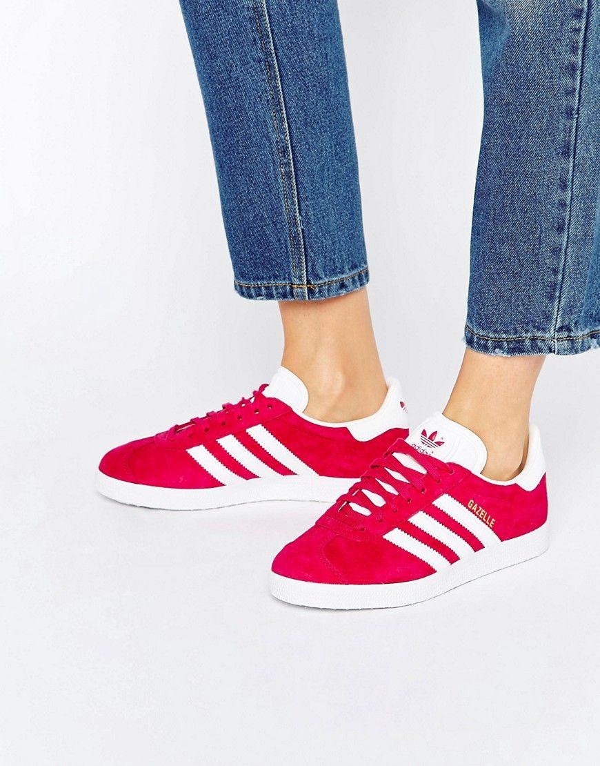 adidas gazelle mujer rojas