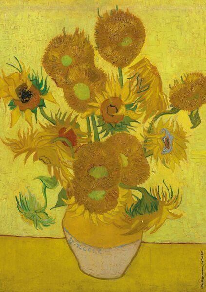 Serving Board Van Gogh - Sunflowers - 9.4 inch