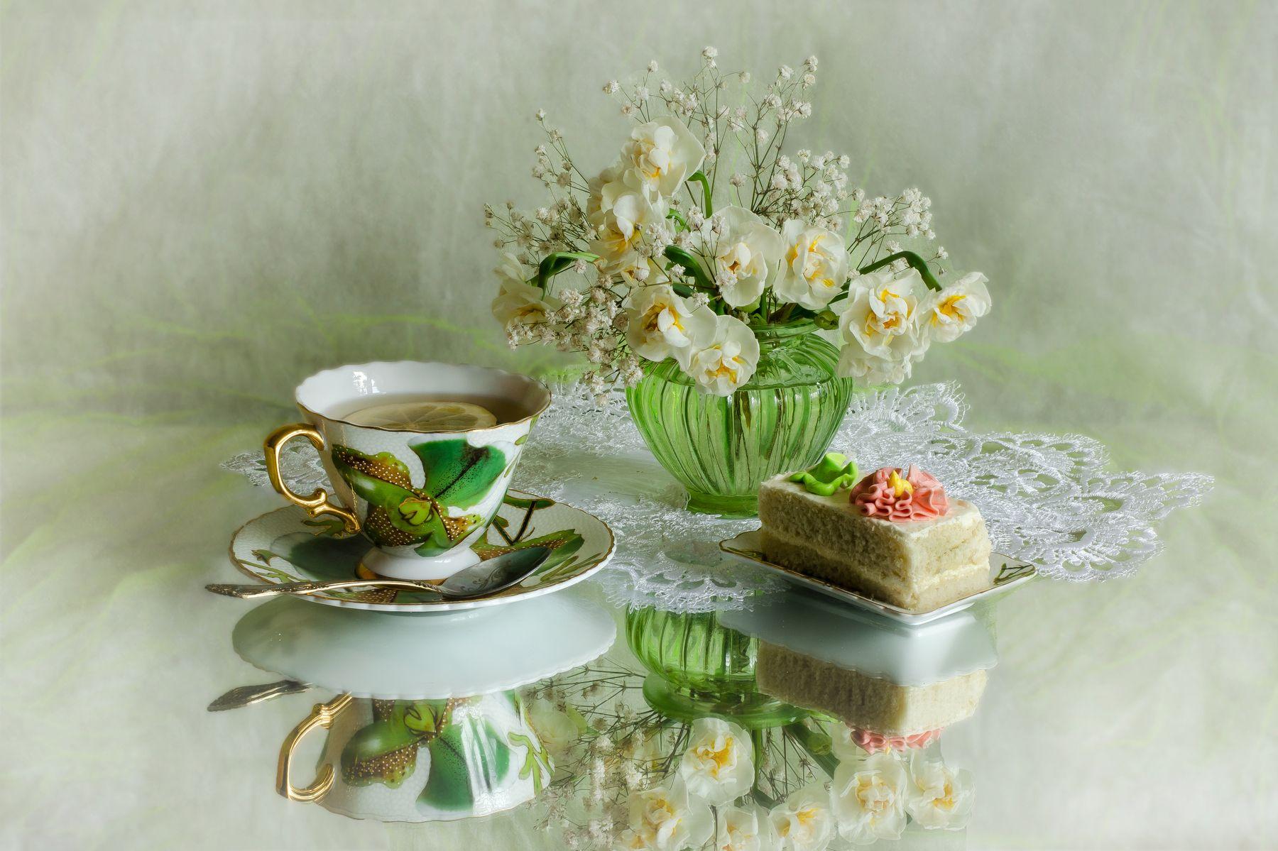 Для, открытка чайная