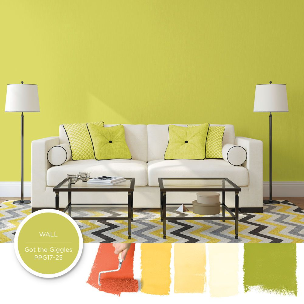 Got the Giggles soft lime green paint color is perfect to add energy ...