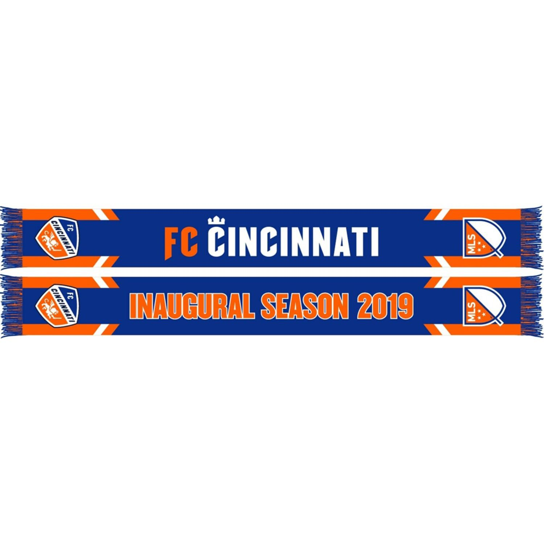 Photo of Blue FC Cincinnati Inaugural Season HD Knit Scarf