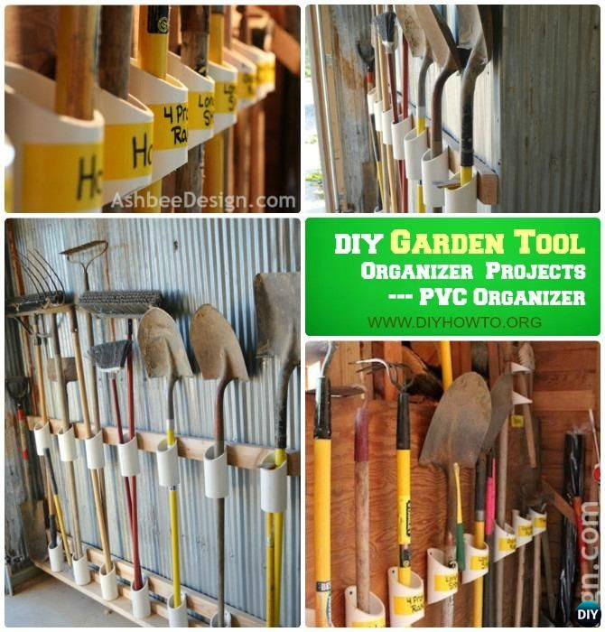 DIY Garden Tool Organizer Storage Ideas Projects
