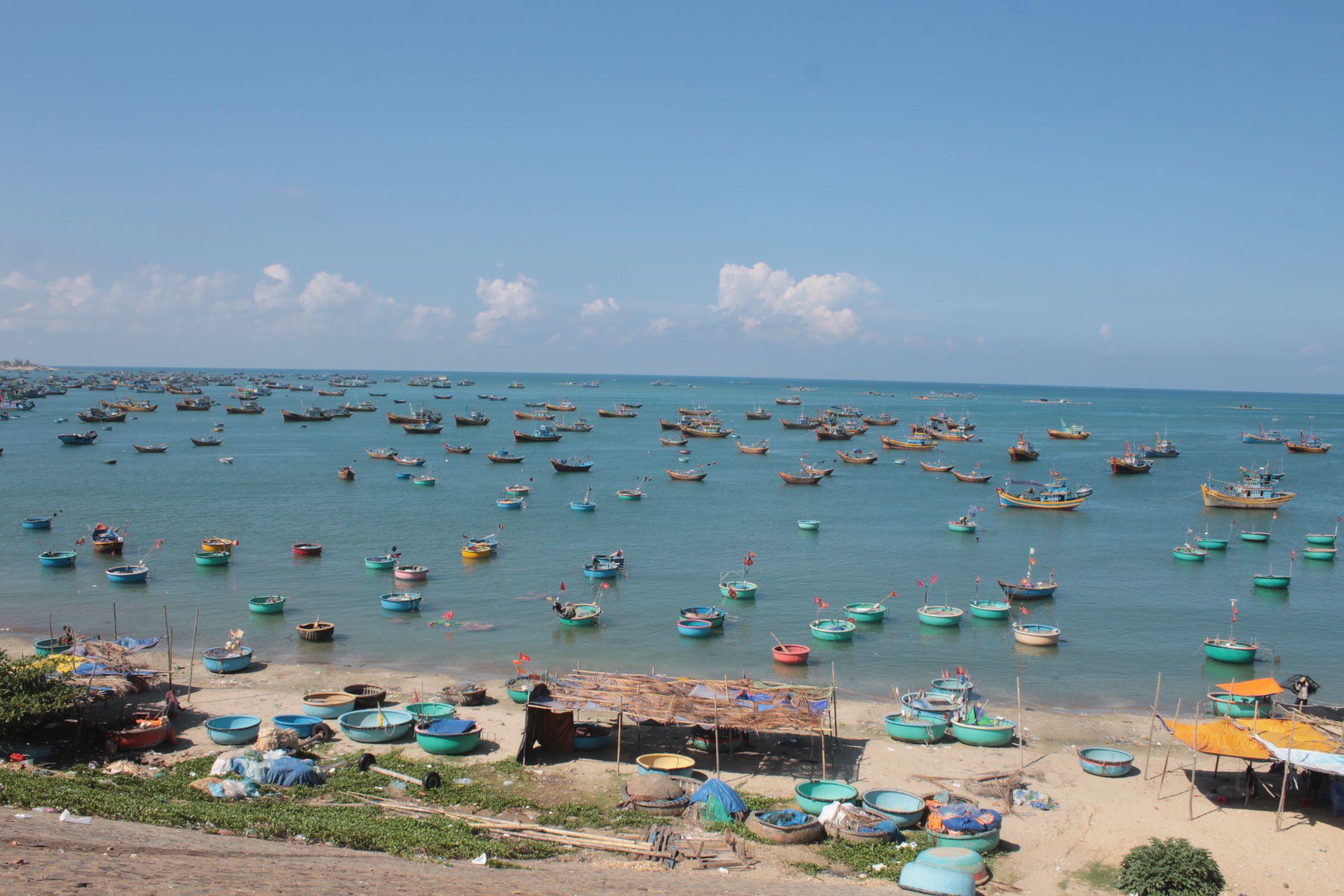La playa de Mui Ne vista desde lejos
