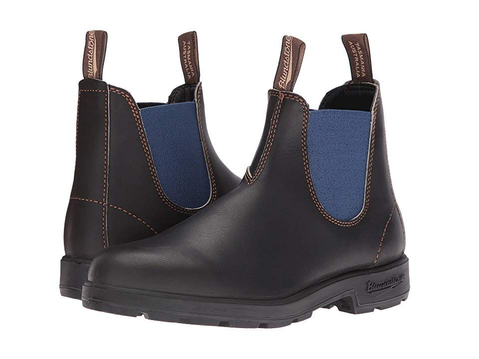 Blundstone 578 Boots Stout Brown Pale Blue Boots