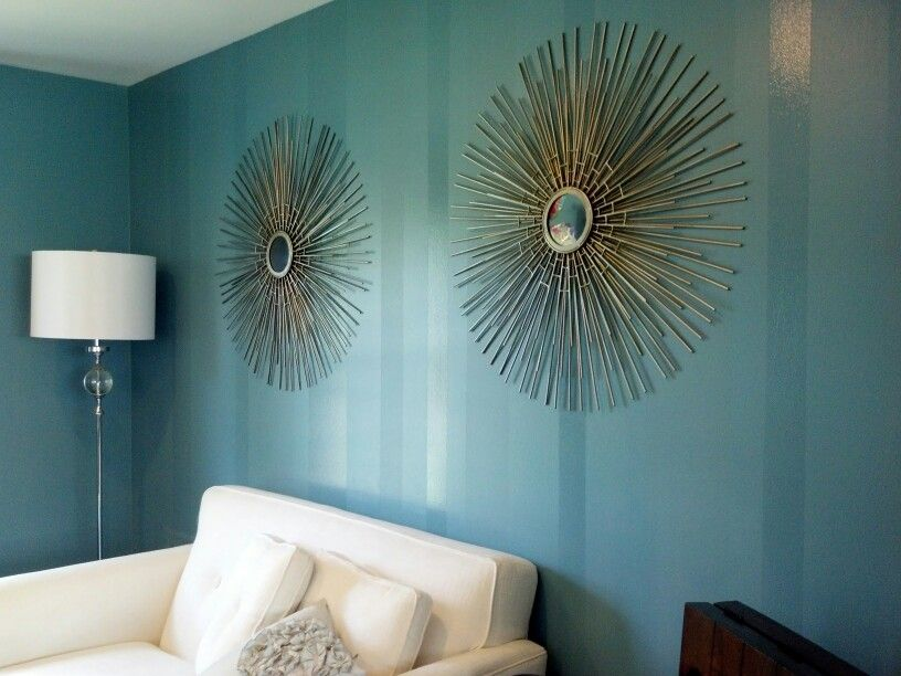 Verticle stripes same color paint three finishes - Matte finish paint for walls ...