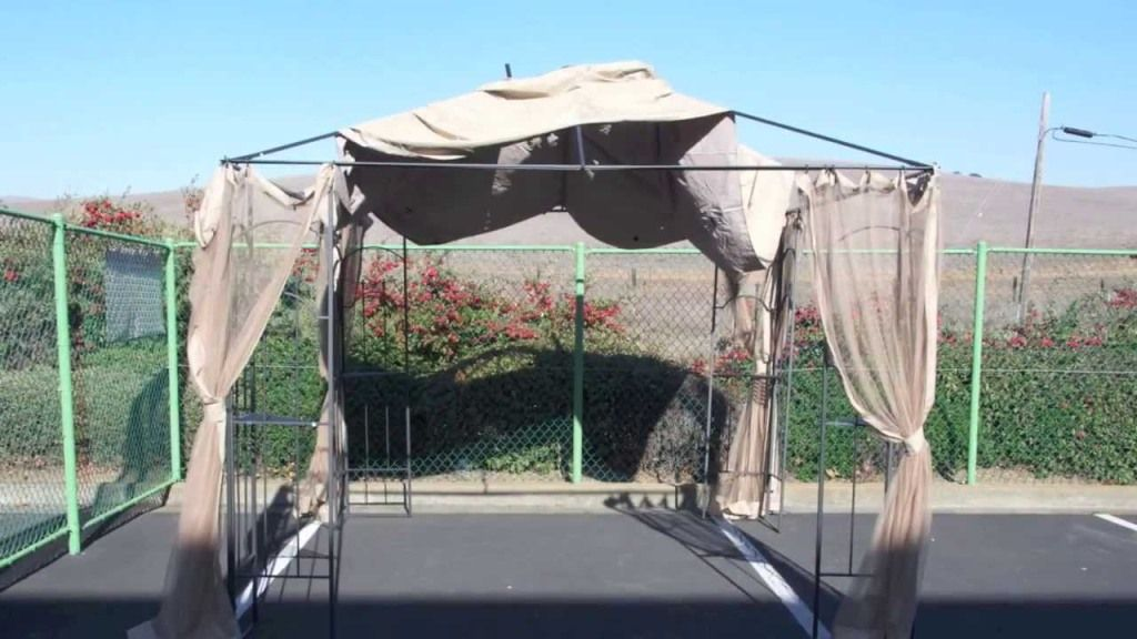Exterior Glamorous 10x10 Screen Gazebo Home Depot Outdoor Gazebo Hampton Bay Gazebo Hampton Bay Gazebo 10x Gazebo Roof Gazebo Replacement Canopy Gazebo Canopy