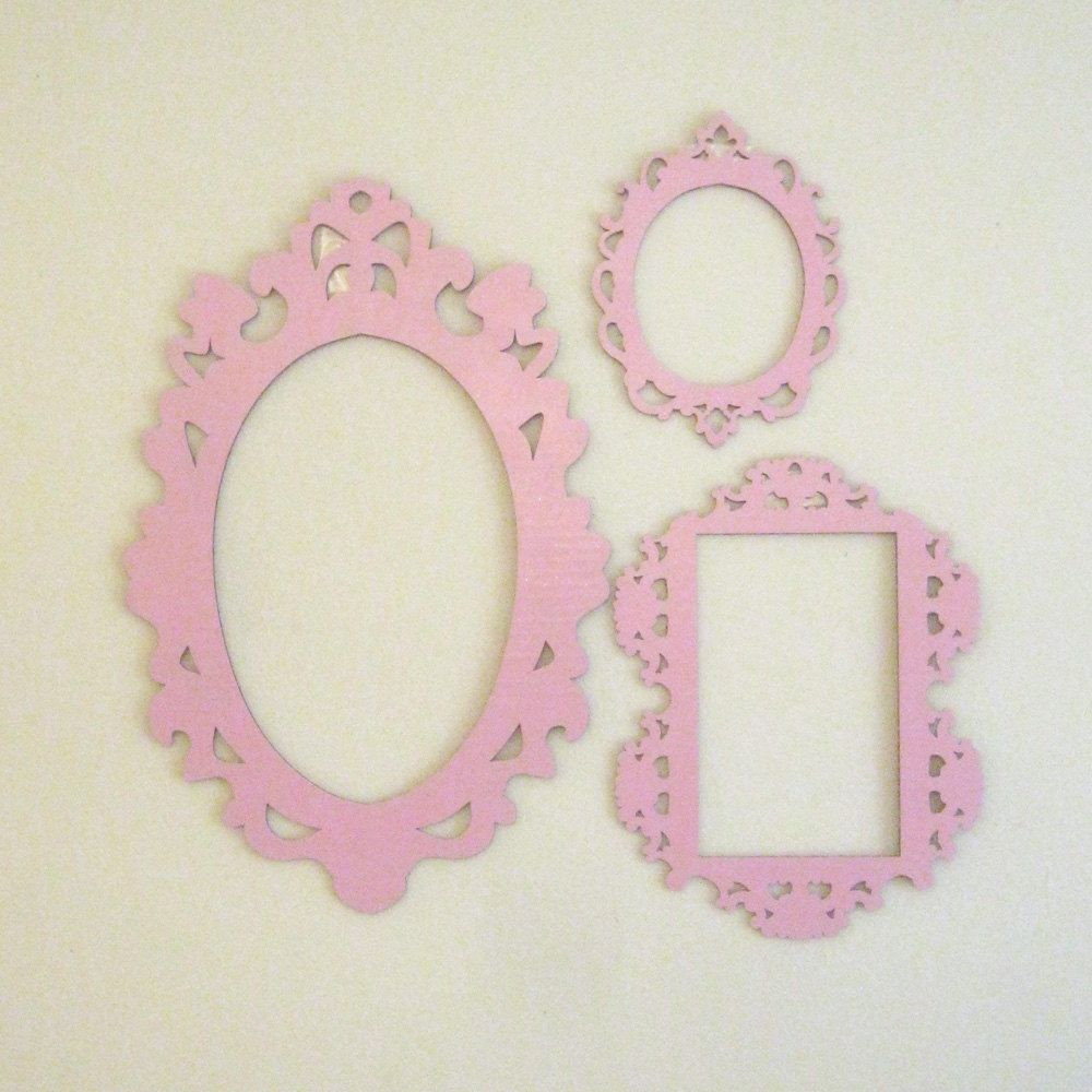 pink decorative cardboard frames photobooth prop wall decor 2500 via etsy