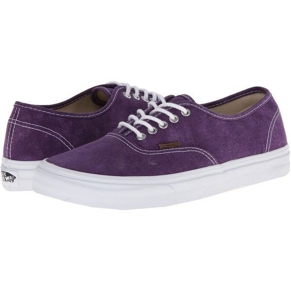 Vans Authentic Slim Twill/Black) Skate Shoes, Purple (110 BRL) ❤ liked on Polyvore featuring shoes, sneakers, vans, purple, black skate shoes, skate shoes, purple shoes, purple skate shoes and black sneakers