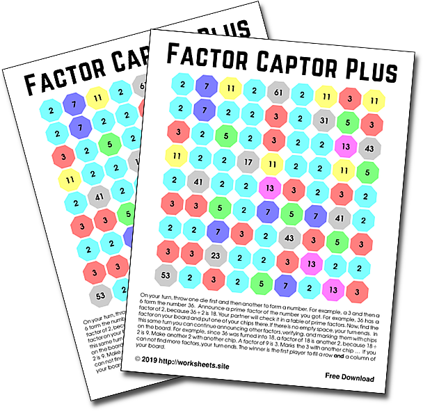 graphic about Factor Game Printable identify Variable Captor As well as. Absolutely free Factoring Recreation. Printable Math