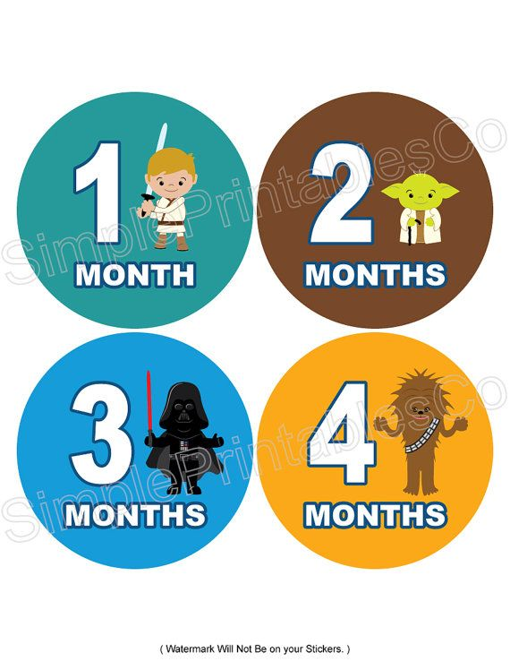 Do it yourself printables 12 designs for monthly stickers or iron do it yourself printables 12 designs for monthly stickers or iron ons boy star wars like collection on etsy 975 solutioingenieria Choice Image