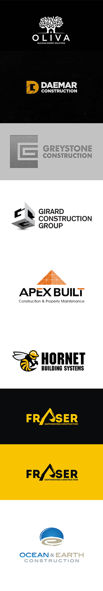 Amazing construction logo designs for your inspiration
