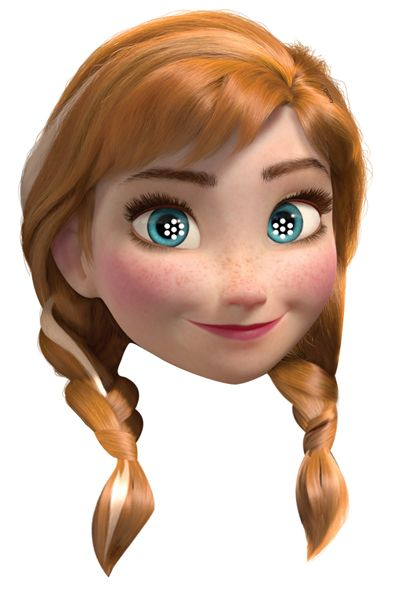 Anna From Disney S Frozen 2d Card Party Face Mask Single Disney Frozen Party Party Face Masks Frozen Party Supplies