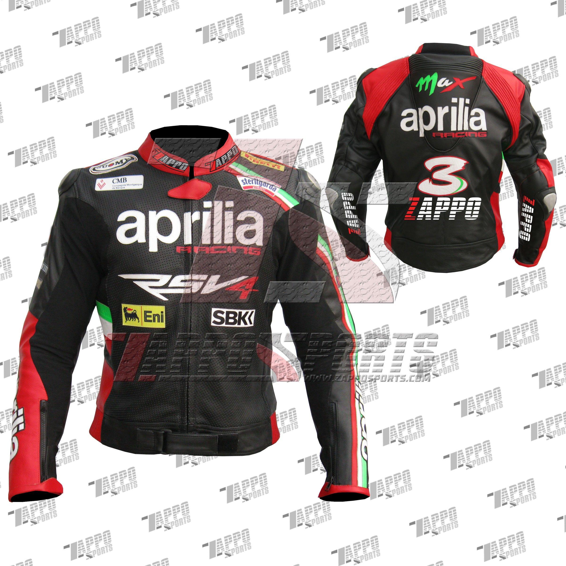 Aprilia Motorcycle Leather Jacket Mens Racing Motorbike//Biker Leather Jacket