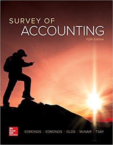 Survey of accounting irwin accounting 5th edition by thomas isbn 13 978 1259631122 ebookdownloadable pdf test bank and solution manual available for sale fandeluxe Gallery