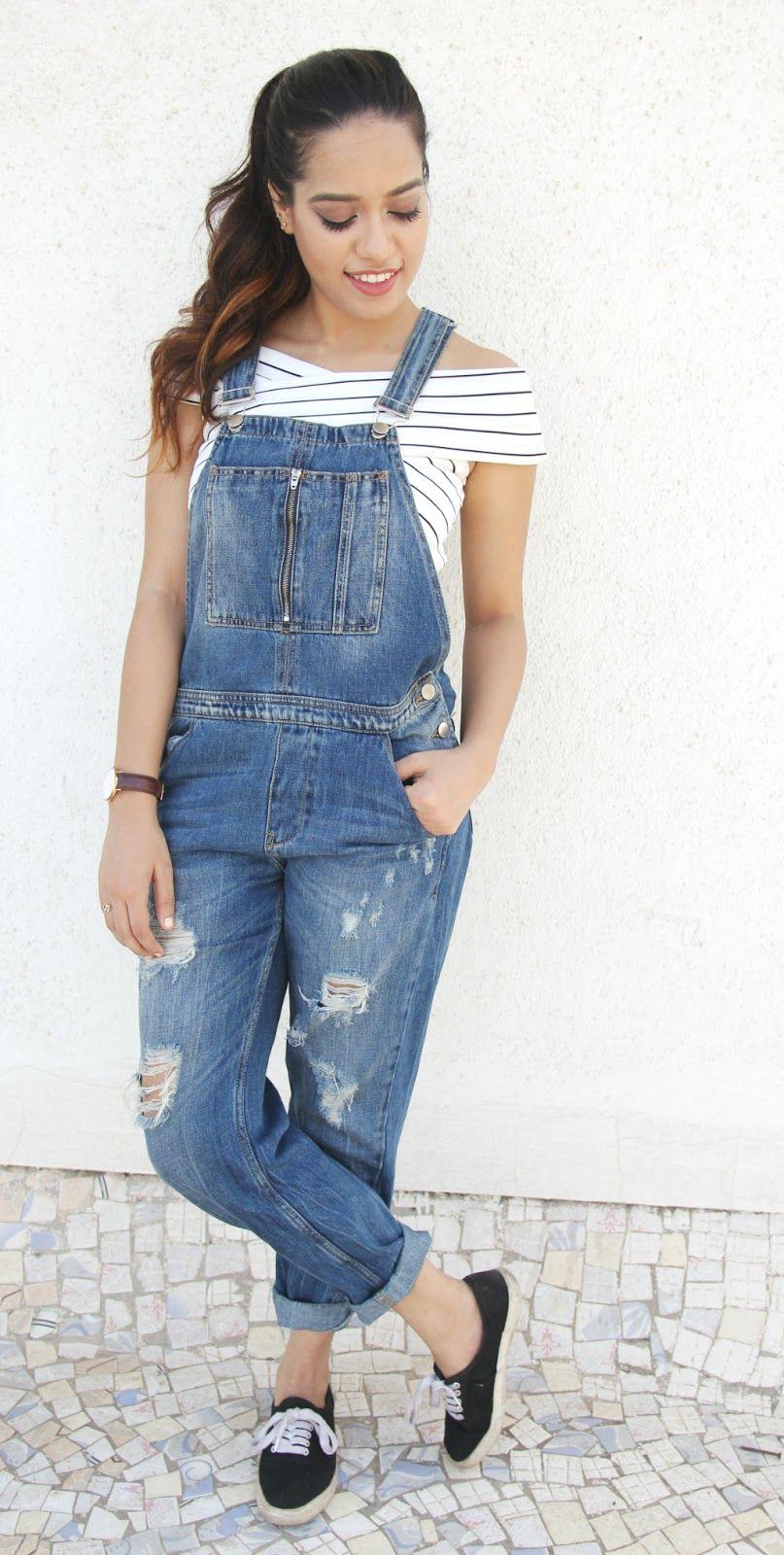 Donna jeans tuta pantaloni jumpsuit skinny jeans denim CERNIERE XS S M L XL