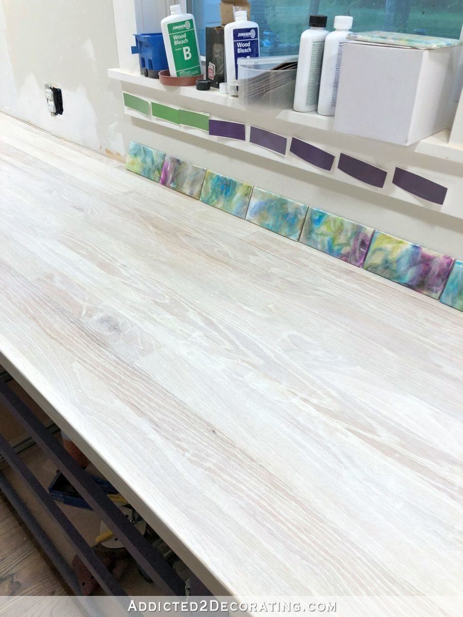 My Finished Diy Butcherblock Style Countertop Made From Red Oak