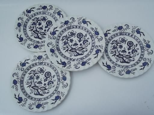 Blue Nordic J G Meakin Classic English China Plates Blue And White Onion Blue Nordic