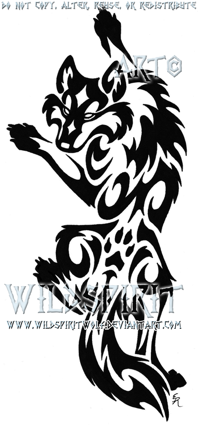 tribal wolf tattoo climbing tribal wolf tattoo by wildspiritwolf on deviantart tattoos. Black Bedroom Furniture Sets. Home Design Ideas