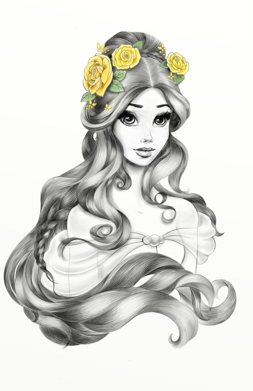 janene dunbar on behance disney belle hairpik