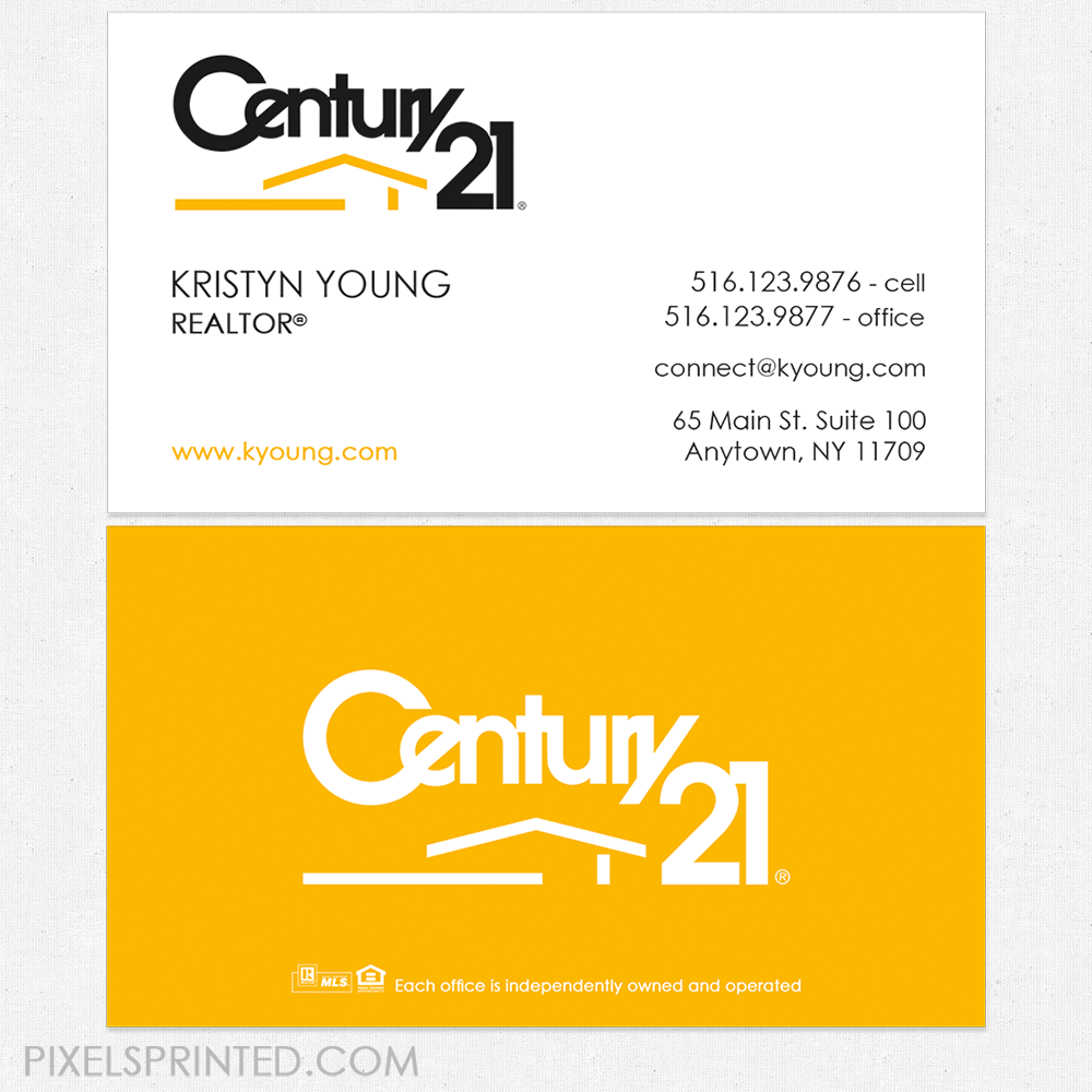 Century 21 Business Cards Century 21 Cards Realtor Business Cards