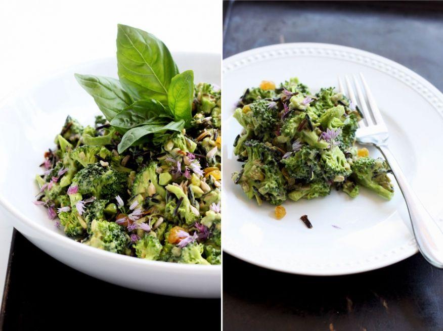 broccoli, basil and avocado toss