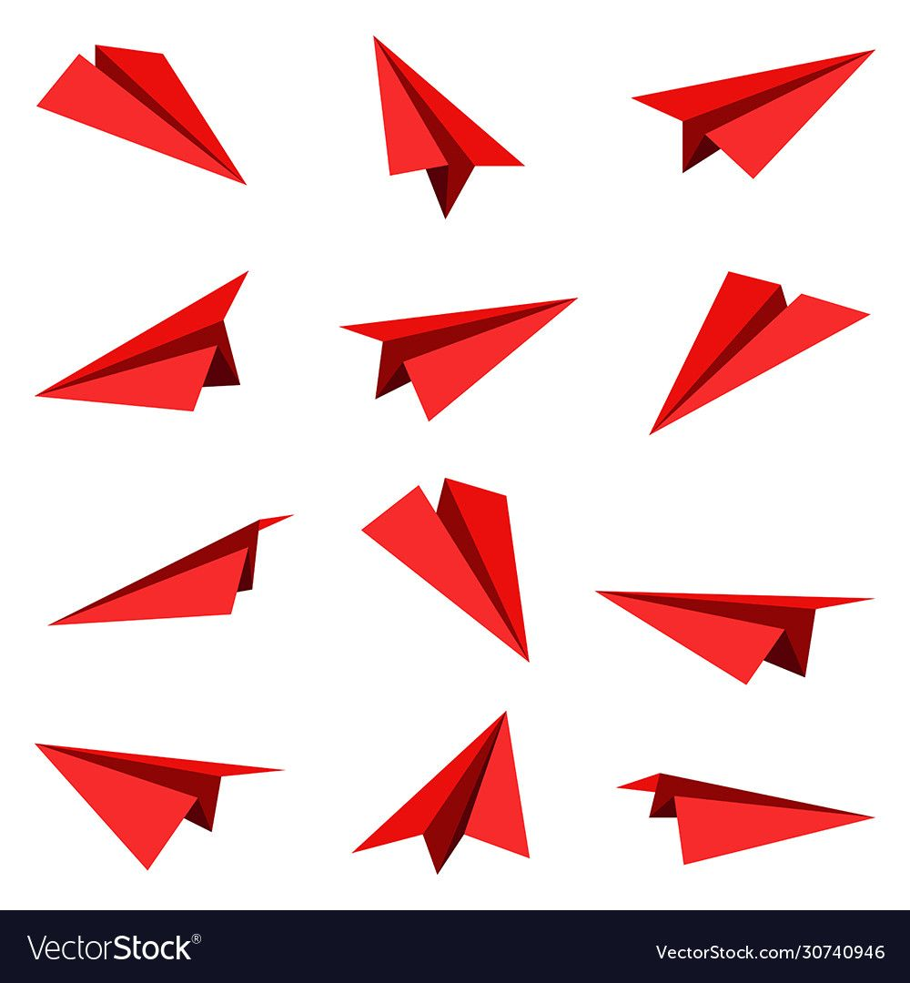 Photo of Paper plane collection isolated on white background. Origami plane. Download a F…