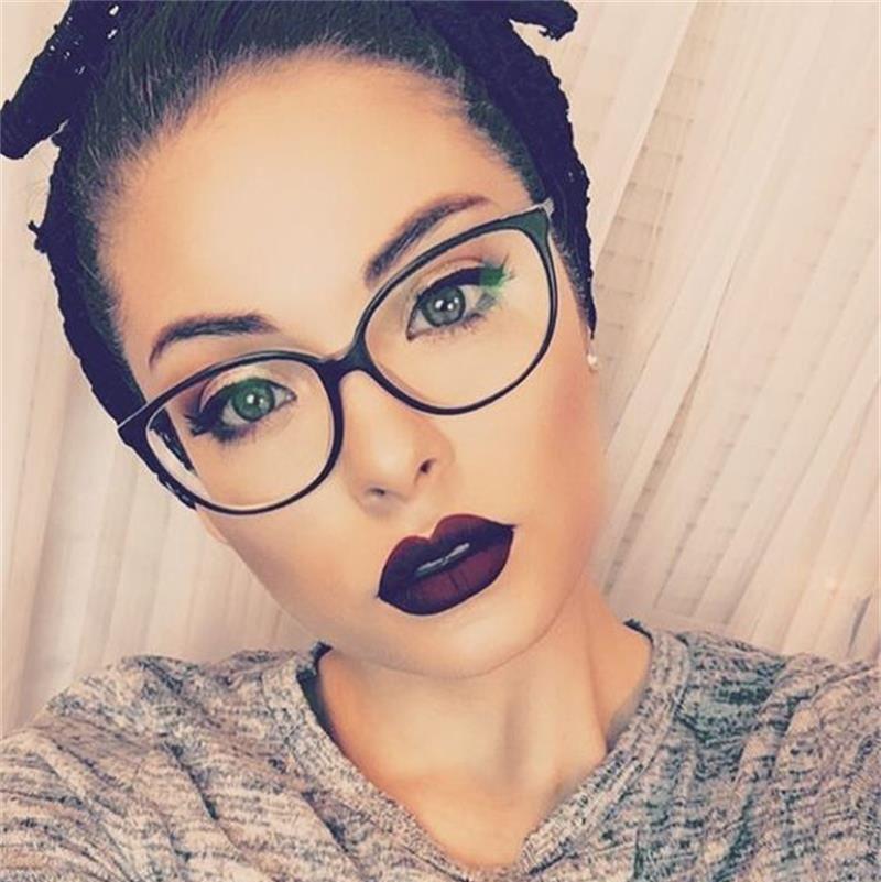 Amedrentador Presentador sensor  2020 Spectacle Frame Cat Eye Glasses Frame Clear Lens Women Brand Eyewear  Optical Frames Myopia Nerd … | Fashion eye glasses, Red eyeglass frames,  Red frame glasses