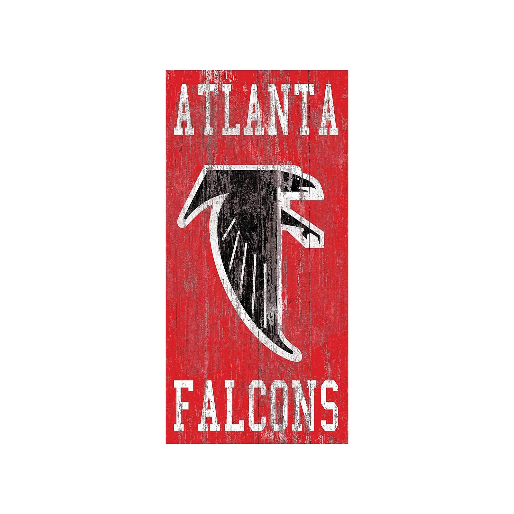 Atlanta Falcons Heritage Logo Wall Sign Multicolor Graphic Wall Art Logo Wall Wall Signs